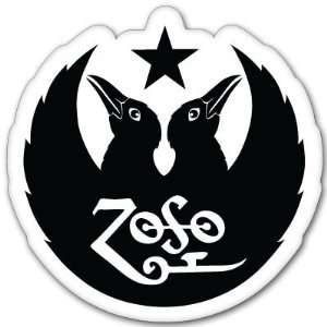 Led Zeppelin Black Crowes ZOSO sticker decal 4 x 4