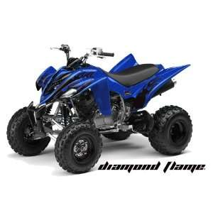 AMR Racing Yamaha Raptor 350 ATV Quad Graphic Kit   Diamond Flames
