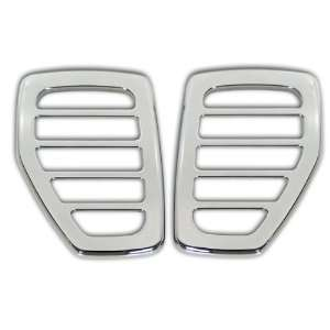H3 Hummer Chrome Billet Smooth Marker Light Surrounds, Pr