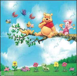 Winnie the Pooh & friend Removable WALL DECAL STICKERS