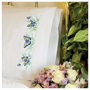 Dimensions Butterfly & Ferns Pillow Case Stmpd X Stitch