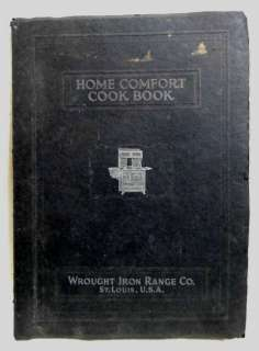 antique ORIGINAL HOME COMFORT WROUGHT IRON RANGE CATALOG+cookbook