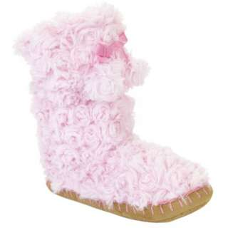 Pink Fuzzy Fur Boot slippers medium 13/1 & Large 2/3 Girls NWT
