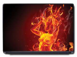 Flaming Girl Vinyl decal / skin for 15.6   17 Laptop