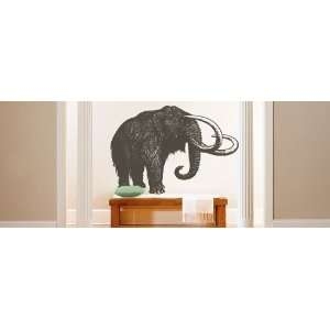 Vinyl Wall Art Decal Sticker Wolly Mammoth