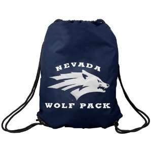 Nevada Wolf Pack Navy Blue Nylon Drawstring Backpack