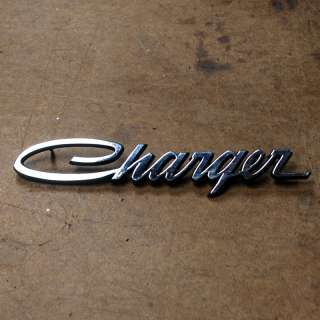 Dodge Charger sail panel emblem 68 69 70 script