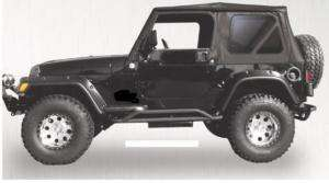 87 95 Jeep Wrangler black Complete Soft Top w/ Hardware