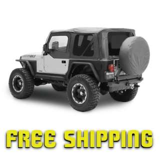 97 06 Jeep Wrangler TJ Replacement Soft Top Skin with Tinted Windows