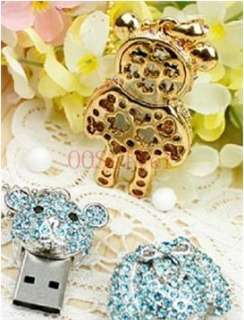 Cute Crystal Bear Usb Pen Flash Drive Flash Memory 4GB