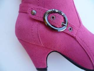 FUCHSIA BOOTS SHOES YOUTH KIDS GIRLS SIZE 9 4
