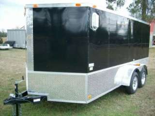 7x14 enclosed double motorcycle trailer black ATP sport motorcycle