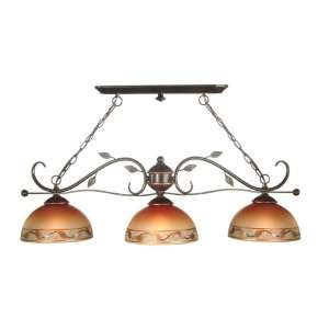 Dale Tiffany TH80098 3 Light Garden Light Fixture, Antique Golden Sand