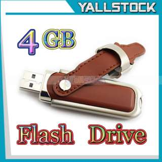 Leather 8GB USB 2.0 Flash Memory Pen Drive U Disk Brown