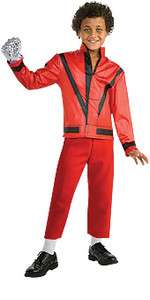Jackson Halloween Costume Red Thriller Music Video MJ Boys Outfit