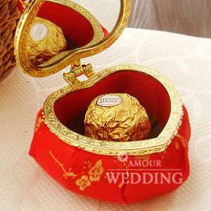 10 Party Wedding Gift Favor Candy Box Jewellery Case Chinese Style