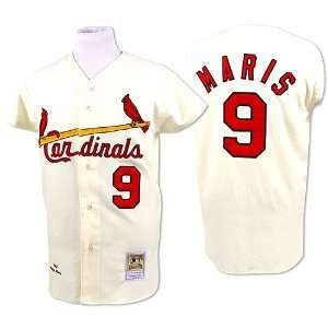 Cardinals Authentic 1967 Roger Maris Home Jersey by Mitchell & Ness