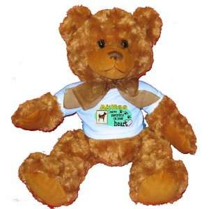 Akitas Leave Paw Prints on your Heart Plush Teddy Bear with BLUE T