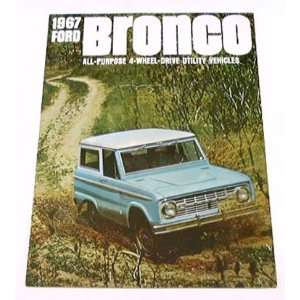 1967 67 Ford BRONCO Truck BROCHURE Wagon Pickup 4wd