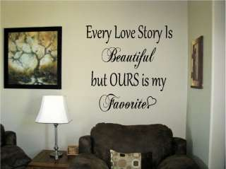 Love Story Vinyl Wall Art Words Decals Stickers Decor