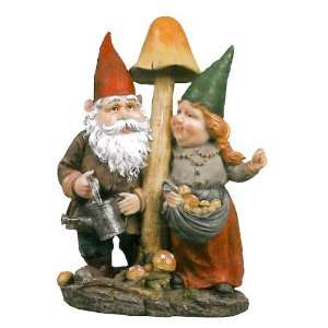 On Sale  Mushroom Hunters Garden Gnome Statue Patio, Lawn & Garden