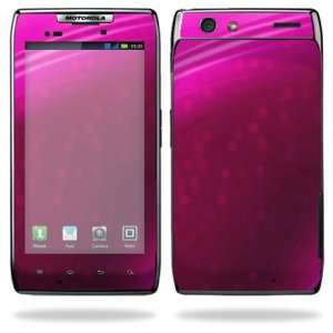 Razr Android Smart Cell Phone Skins   Pink Abstract Cell Phones