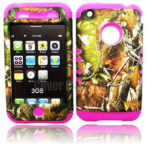 For Apple iPhone 3G 3GS Hard Case Hunter Camo Mossy On Pink 2 in 1