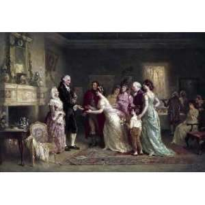 Washingtons Birthday by Jean leon gerome Ferris . Art