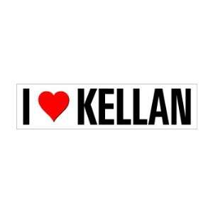 I Heart Love Kellan   Window Bumper Sticker Automotive