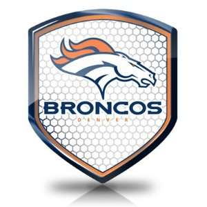 NFL Denver Broncos Shield Shape Auto Reflector, Official