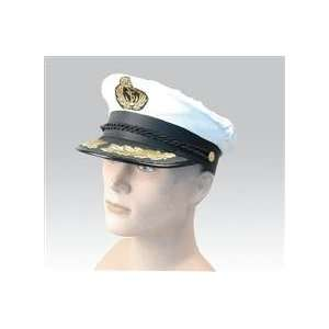 Dress) Deluxe Sailors Captain Hat Nautical Fancy Dress Toys & Games