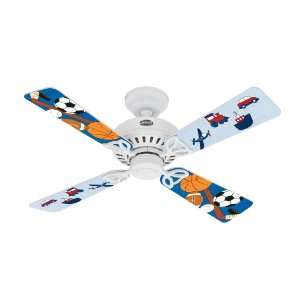 Hunter Fan 25697 Bayport Ceiling Fan, White with Transportation/Sports