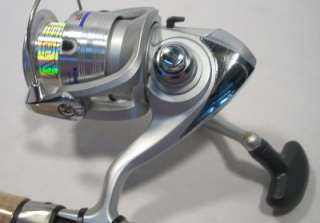 Daiwa D Shock Spin Combo Fishing Fiberglass Rod Reel