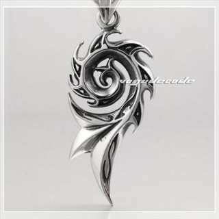 Tribal Barb Tattoo Stainless Steel Mens Pendant 4P016