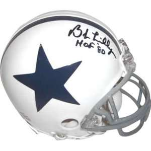 Bob Lilly Dallas Cowboys Autographed White Riddell Mini