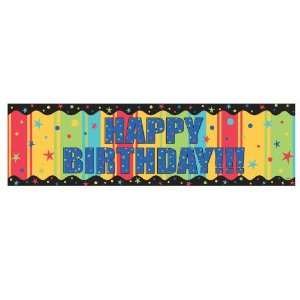 Lets Party By Amscan Happy Birthday Giant Sign Banner