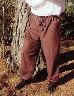 Mens Pants Cotton Renaissance Faire Medieval Costume