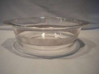 Fire King Covered Glass Casserole Silver Dish Bowl 2 Qt w/Lid