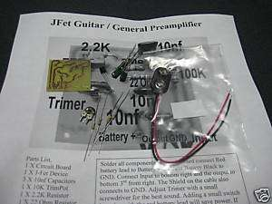 fet Jfet Guitar audio preamplifier preamp kit