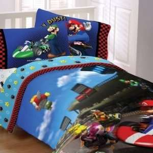 Super Mario Brothers Twin Comforter & Sheet Set (4 Piece
