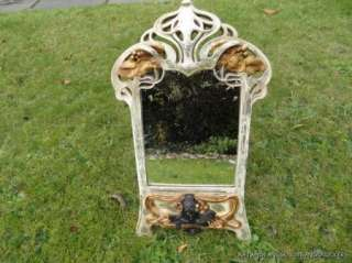 SUPERB ART NOUVEAU STYLE STYLISED LADY HEAD MIRROR ARTS AND CRAFTS