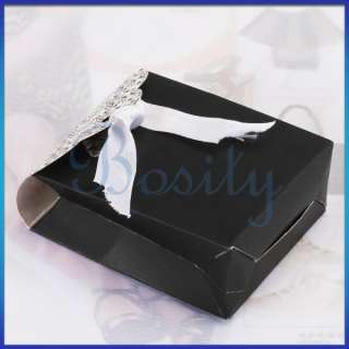 Ribbon Wedding Party Favor Candy Gift Box Ivory board