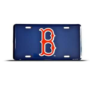 Boston Red Sox Mlb Blue Metal Sport License Plate Wall