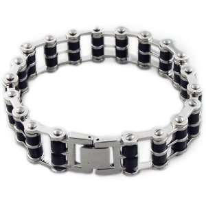 Stainless Steel Chain Linked Mens Bracelet Pugster