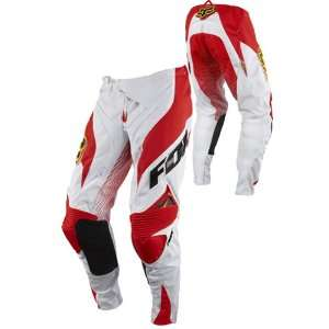 Fox Racing Platinum A1 Race Pant White/Red W32 Automotive