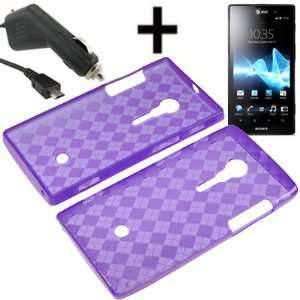 BW TPU Sleeve Gel Cover Skin Case for AT&T Sony Xperia Ion