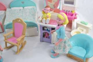 Fisher Price Loving Family Dollhouse Furniture Huge Lot Baby People