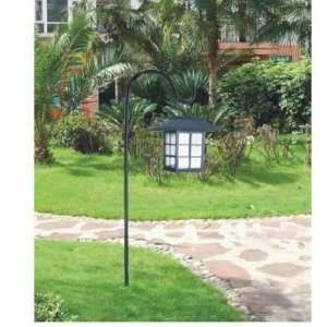 OF 2 Oriental Hanging White LED Solar Light w/Cane