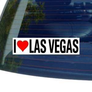 I Love Heart LAS VEGAS   Window Bumper Sticker Automotive