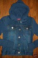 CHIC BLUE DENIM PURPLE CABLEKNIT SWEATER HOODIE HOODED JEAN JACKET S